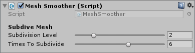 Mesh Smoother options
